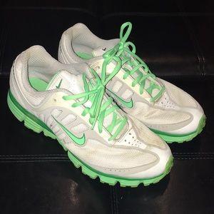 Nike white/neon green women's size 11